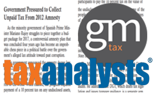 GmTax aporta su opinión experta a la revista especializada Tax Analysts